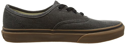 Black Washed Authentic Canvas Gum Vans tBPxfqnw
