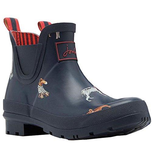 Joules Donna Wellibob Rain Boot Francese Navy Dog