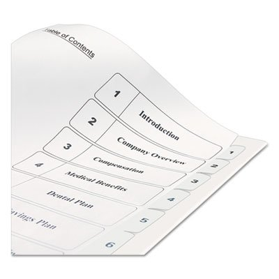 Ready Index Classic Tab Titles, 10-Tab, 1-10, Letter, Black/White, 10/Set, Sold as 10 Each