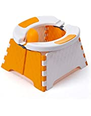 Fasteer Kids Toilet Portable Potty For Toddlers, Portable Folding Travel Car Potty, Compact And Lightweight Training Toilet For Children For Outdoor Camping Hiking Travel Indoor