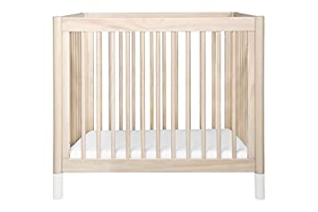 Babyletto Gelato 2-in-1 Mini Crib, Washed Natural White