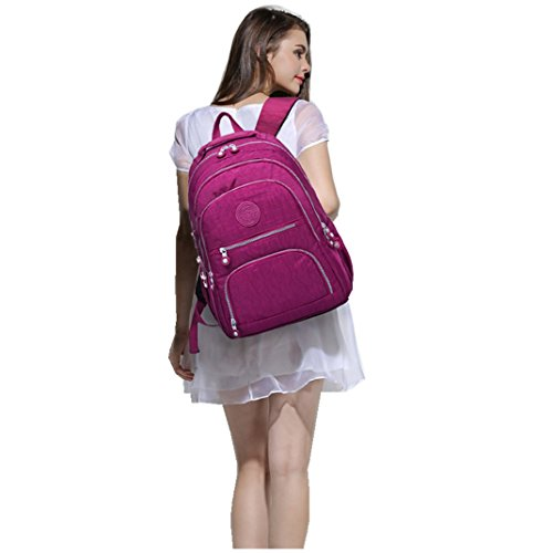 0ab88a9371e2 Travel Daypack Lightweight Laptop Backpack Purse for Women Waterproof  School Bag