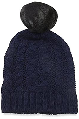 Ivanka Trump Women's Knit Hat with Pom Pom, Sapphire