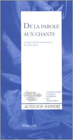 Lire un DE LA PAROLE AUX CHANTS pdf epub