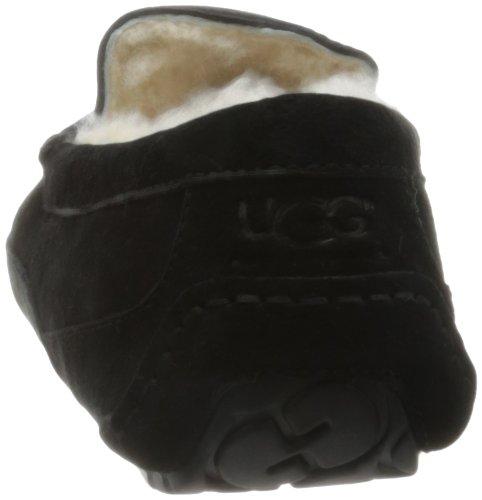 Ugg Australia Ascot Herren Schwarz Wildleder Pantoffel Schuhe Neu EU 48,5