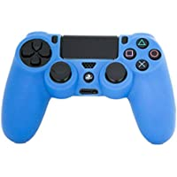 For Playstation 4 PS4 Controller - Rubber Silicone Case Cover for Sony PS4 - Blue