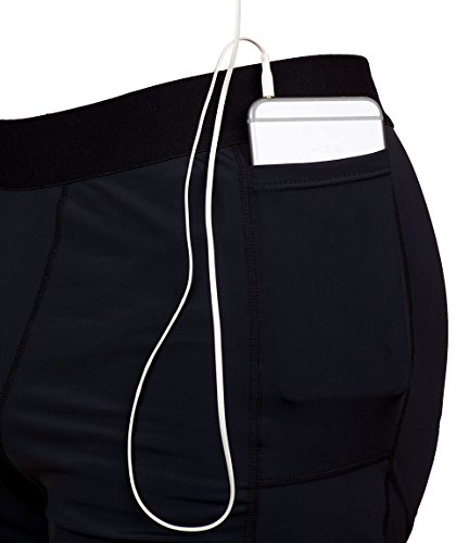 Compression Workout Shorts with Custom Phone Pocket THE II BRO