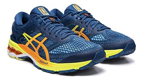 ASICS Men's Gel-Kayano 26 Arise Running Shoes, Mako Blue/Sour Yuzu, 11 M US
