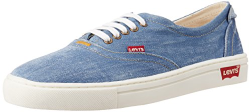 Denim Washed Blue Canvas Sneakers