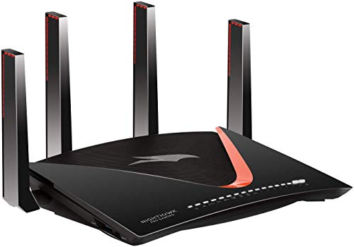 NETGEAR Nighthawk Pro Gaming WiFi Router. Works with Xbox, PlayStation, PC, and more. 7 Gigabit Ethernet Ports. 10Gig Port. 1.7GHz Quad-core Processor & Plex Media Server (XR700)
