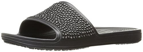 Shoes UK Black Sloane Crocs 6 Größe Slide Embellished 0qvB7w