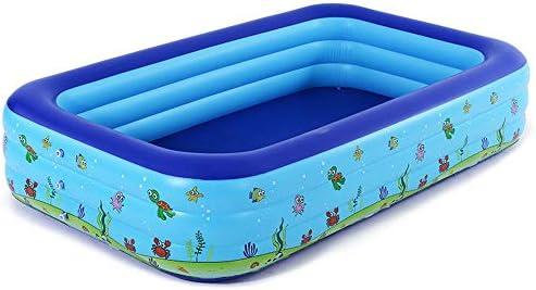 HEROTIGH Piscinas Hinchables Espesar La Familia Inflable Grande Piscina Tres Niños del Anillo del Bebé Hogar Piscina 2.62 Metros Inflatable Pool: Amazon.es: Hogar