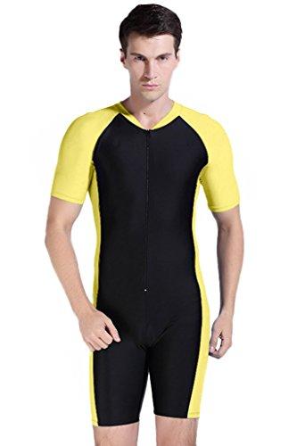 Short Sleeve One Piece Swimsuit UPF 50+ Rashguard - Man Piece One