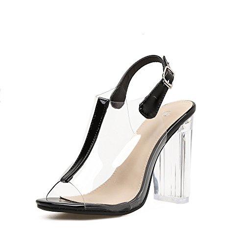 scarpe Tacco pesce alti sandali di nuova con alto estivi i bocca tacchi sandali ZHZNVX TqzaUxwa