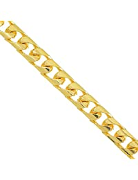 "JewelStop 14k Solid Gold Yellow Or White 5.8 mm Cuban Chain Necklace, Lobster Claw - 22"" 24"" 30"""