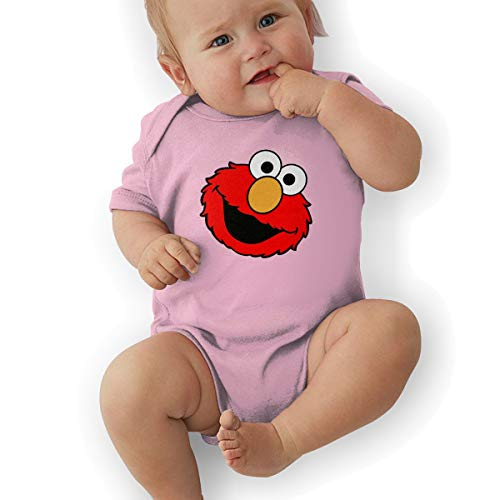 Bodysuits Baby, Elmo's World Running Unisex Newborn Infant Bodysuit Baby Clothes Pink ()