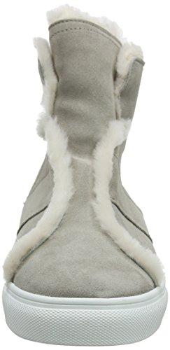 Schmenger Mujer para Sohle Zapatillas Natur Elefant Beige Kennel Weiß 659 Basket Altas und Tqqg5U