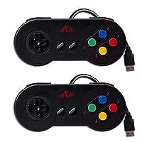 Rii GP100 SNES Retro USB Super Nintendo Controller, Mando de Juegos,USB PC Controller, Raspberry Pi Controller para Windows PC , Mac ,Raspberry Pi (2 Pack)