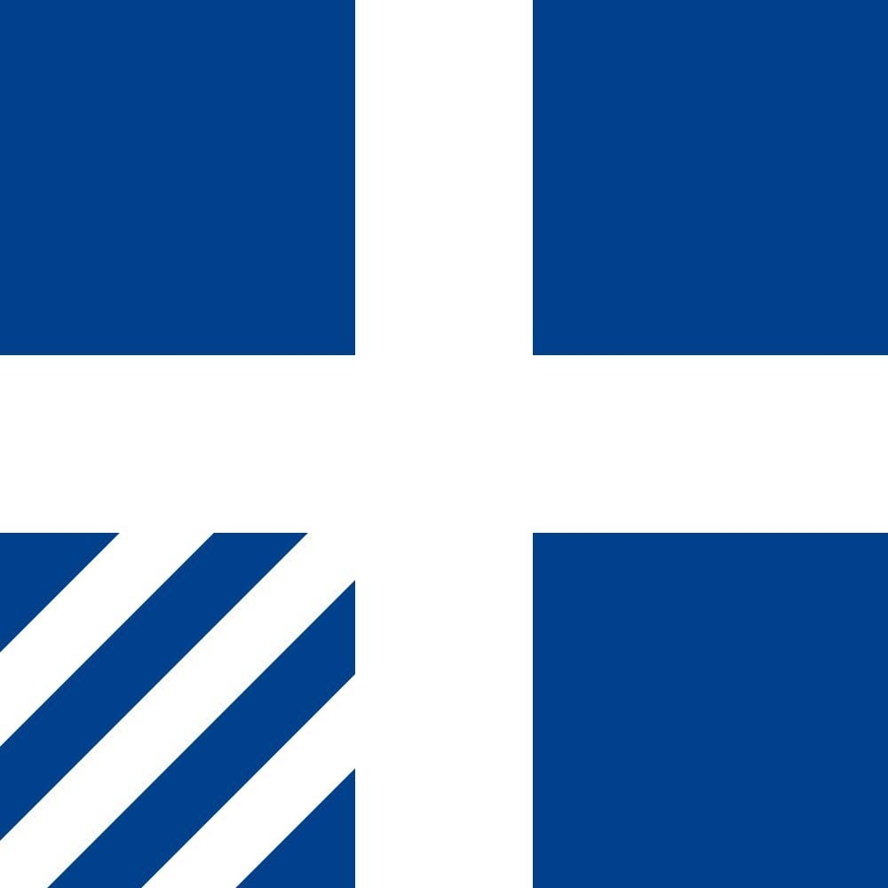 magFlags Large Flag Royal Greek Navy Rear Admiral | Royal Hellenic Navy Rear Admiral | 1.35m² | 14.5sqft | 120x120cm | 45x45inch - 100% Made in Germany - Long Lasting Outdoor Flag