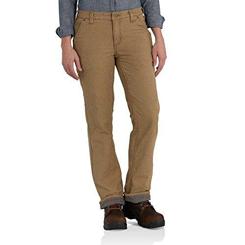 Carhartt Women's Original Fit Fleece Lined Crawford Pant, Yukon, 10