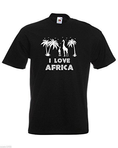 T amp; shirt Citation Love Hommes Girafes I Gratuit Palmiers Girafe Noir Oiseaux Afrique Modèle Silhouettes Avec Décalque Cadeau gnCdBn