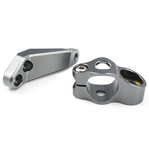 XX eCommerce Motorcycle Motorbike Motorcycle CNC Aluminium Stabilizer Steering Damper Mounting Bracket for 2017 Kawasaki Z900 (Titanium) by XX eCommerce (Image #5)'