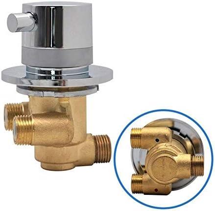 Yitang ワンウェイ出口温度制御は、弁ダイバーブラスサーモスタットシャワー水栓タップルームミキサー混合スクリュー (Color : 1pcs)