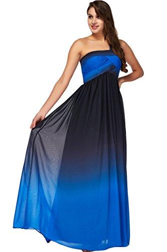 da Sunvary del Nero vita e spalla semplice Fiesta Empire della blu sera One vestito ballo qvaURqw