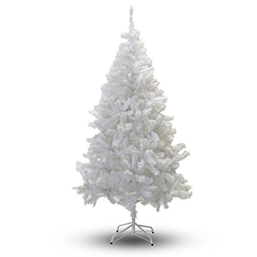 White Christmas Trees - Perfect Holiday Christmas Tree, 6-Feet, PVC Crystal White