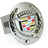 Cadillac Chrome Logo Tow Hitch Cover Plug - Old Logo