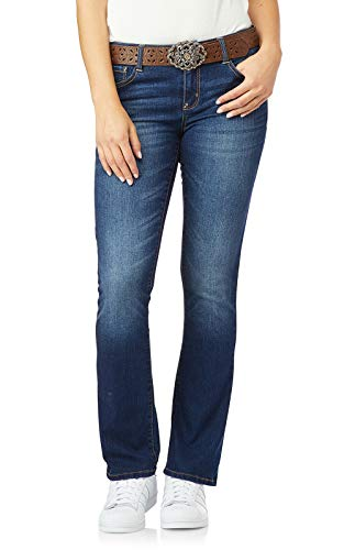 WallFlower Womens Juniors Belted Low-Rise Legendary Slim Bootcut Jeans in Penny, 0