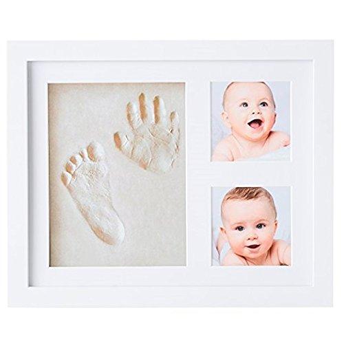Kit de cadre photo moulage de pied et de main de bébé ® Babyboon | 4 COULEURS DANS UN PACK | Le souvenir idéal pour un cadeau de naissance ou de baptême | Empreinte parfaite des pieds et des mains – ESSAYEZ MAINTENANT !