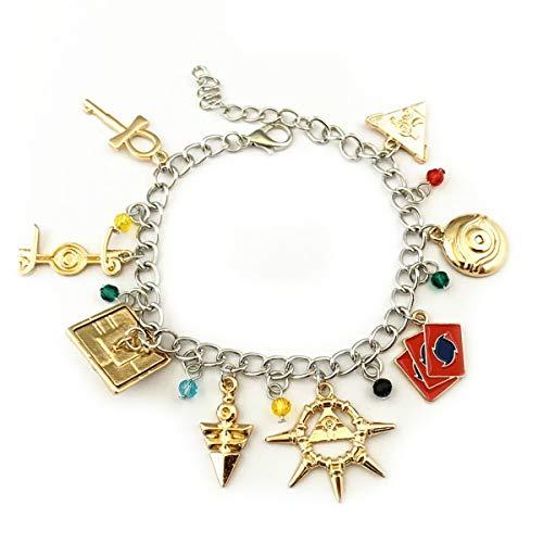 Yugioh Charm Bracelet Quality Cosplay Jewelry Anime Manga Series with Gift Box -