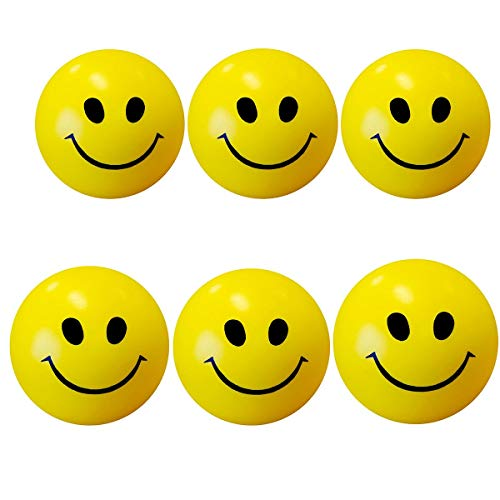 Rudra Smiley face Squeeze Slow Rising Anti Stress Reliever Ball Soft   Pack of 6