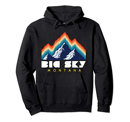 Resort Sky Retro Ski Usa Montana Big 1980s Hoodie 0OXnZPN8wk
