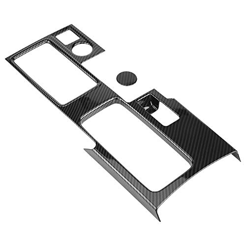 KIMISS Car Gear Box Panel Decoration Trim Frame Coverfor Mitsubishi Eclipse  Cross(black)