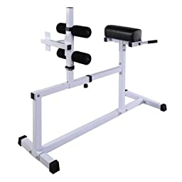 GHP 440-Lb Weight Capacity Steel Hyperextension Bench Machine Fitness Equipment