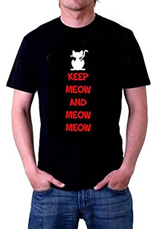 Printed Short Sleeve T-Shirt - Black For Men Size L