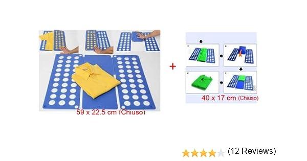SET DE 2 DOBLADOR DE ROPA - MEDIDAS GRANDE: (59 x 22,5 cm) BABY (40 x 17 cm): Amazon.es: Electrónica