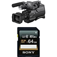 Sony HXRMC2500 Shoulder Mount AVCHD Camcorder with 3-Inch LCD (Black) with Memory Card