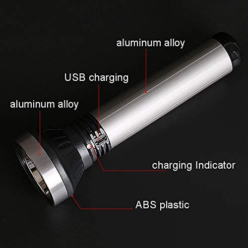 Handheld Everyday Flashlights Portable LED Torch, High Lumen Rechargeable, Best for Camping Hiking Outdoor Emergency(Batteries Included)