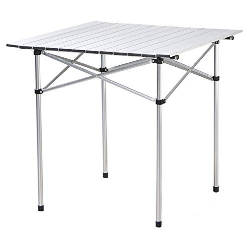 Deanurs Roll Up Portable Aluminum Folding Camping Square Tables PicnicTable for Outdoor Camping Hiking Lightweight Picnic Table , 28