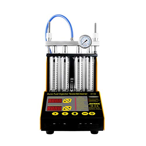 Man hongjia CT150 4 Cylinder Ultrasonic Fuel Injector Cleaner Tester Upgrade Version CT200 ()