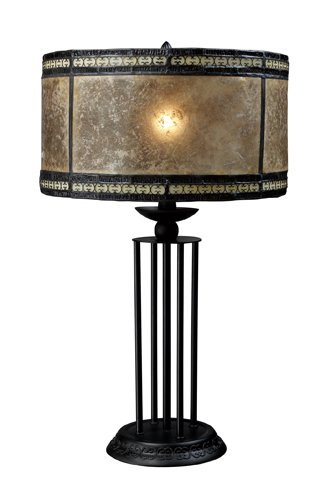 Mica Table Antique Lamp - Dimond D1849 14-Inch Width by 23-Inch Height Mica Filigree Table Lamp in Antique Black with Mica and Filigree Detailed Shade