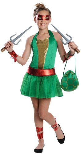 Teenage Mutant Ninja Turtles Sassy Tween Girl's Raphael Costume, Small