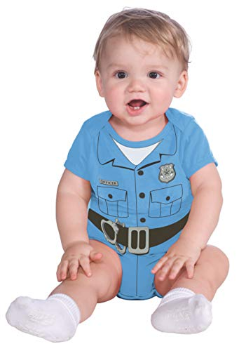 Rubie's My First Halloween Police Officer Onesie Costume, Blue, Newborn (0-6 Months) - Infant Police Costume