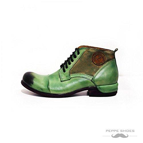 Modello Pescara - Handmade Colorful italiennes en cuir Shoes Chaussures Casual Formal Unique Vintage premium Bottes lacŽes Hommes Hauts