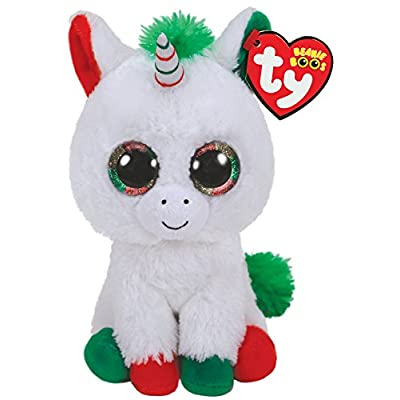 Ty Beanie Baby - 36222 - Candy Cane Christmas Unicorn - 15cm: Toys & Games