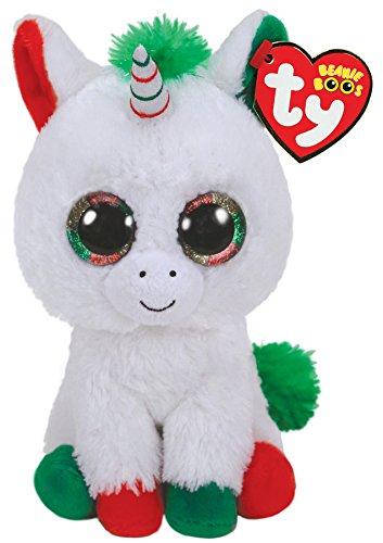(Ty Beanie Baby - 36222 - Candy Cane Christmas Unicorn - 15cm)