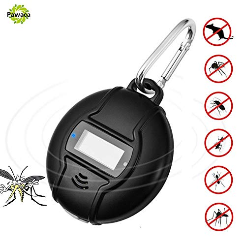 GADEMATA | Repellents | Outdoor Portable Electronic Mosquito Repeller Hook Type Solar Type Pest Repeller Solar Ultrasonic Mosquito Insect Killer (Ultrason Pest Repeller)